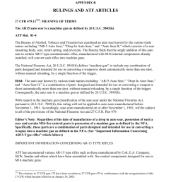 appendix b rulings and atf articles 27 cfr 479 11232 meaning of terms the ar15 auto sear is a machine gun as defined by 26 u s c 5845 b atf rul  [ 791 x 1024 Pixel ]