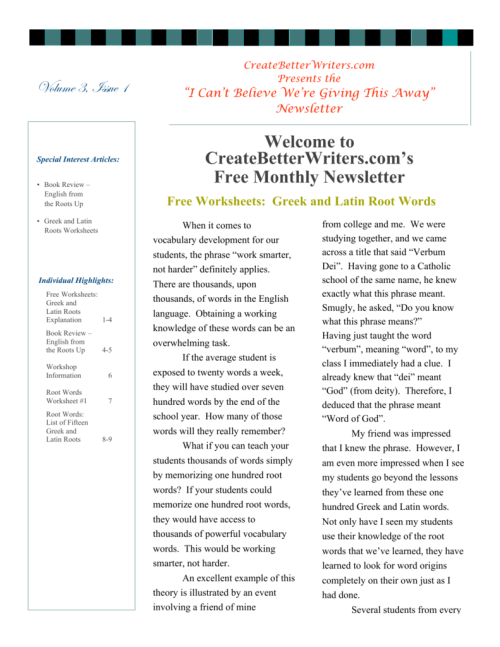 small resolution of Welcome to CreateBetterWriters.com's Free Monthly Newsletter