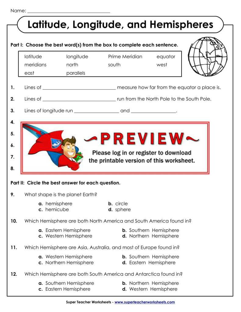 medium resolution of Latitude And Longitude Worksheet Answer Key - Promotiontablecovers