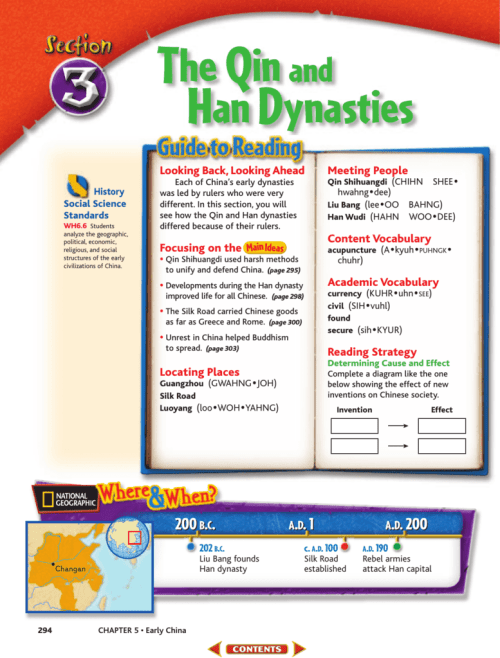 small resolution of The Qin and Han Dynasties - 6th Grade Social Studies