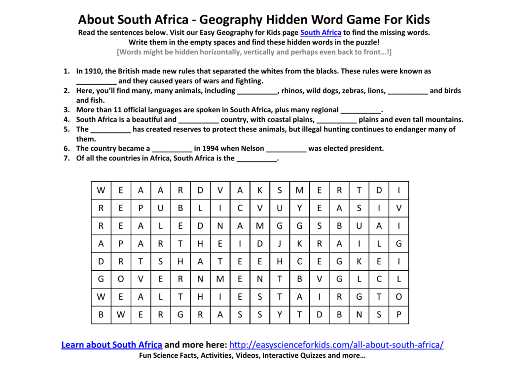 Grade 2 English Worksheet South Africa