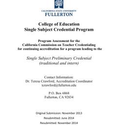 Single Subject (EDSC) Program Assessment 2013 [ 1024 x 791 Pixel ]