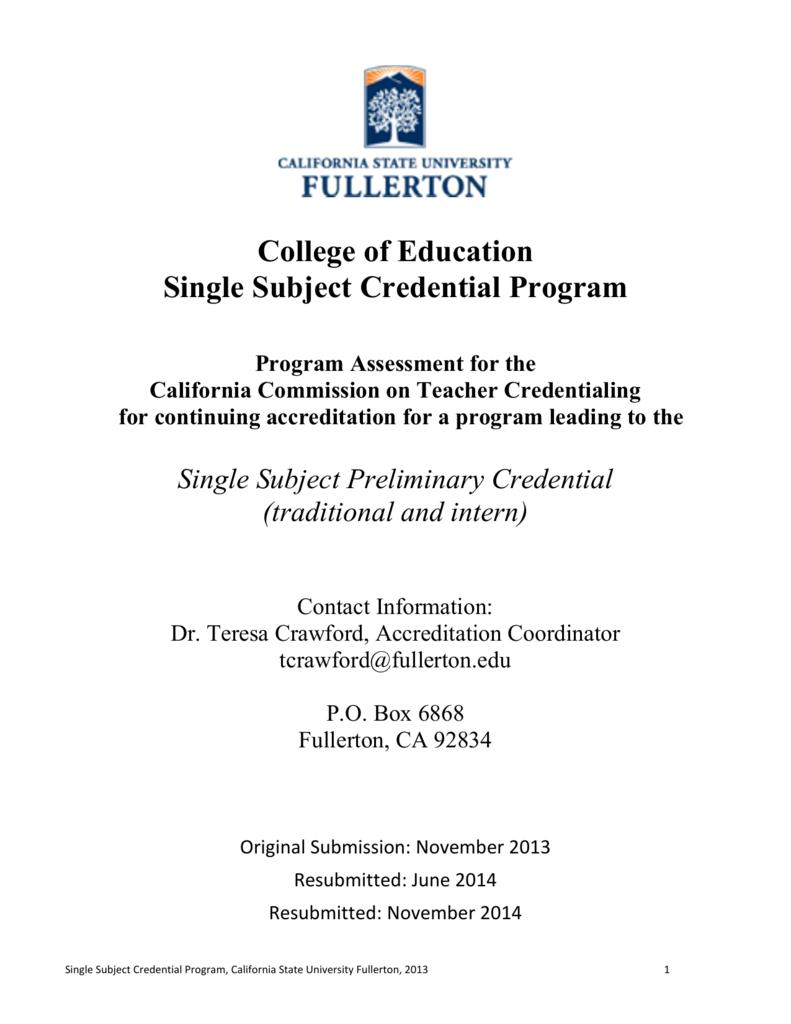 medium resolution of Single Subject (EDSC) Program Assessment 2013