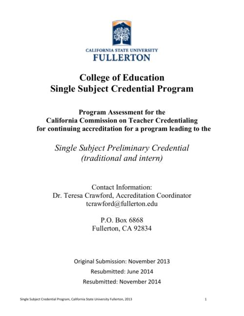 small resolution of Single Subject (EDSC) Program Assessment 2013