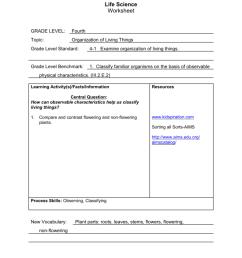 Life Science Worksheet [ 1024 x 791 Pixel ]