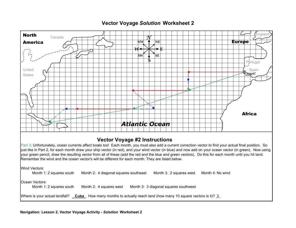 Vector Voyage Solution Worksheet 2