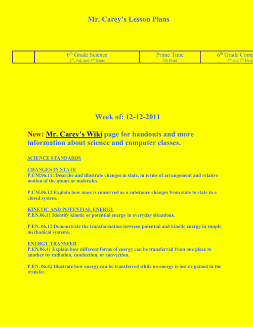 small resolution of Mr. Carey's Lesson Plans 2011-2012