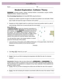 Collision Theory Worksheet - wiildcreative
