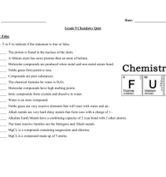 Chemistry Worksheets For Grade 9   Printable Worksheets and Activities for  Teachers [ 791 x 1024 Pixel ]