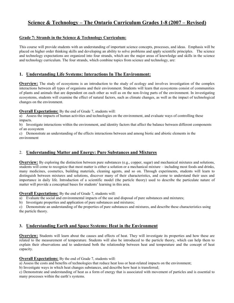 medium resolution of Science Grade 7 – Course Description