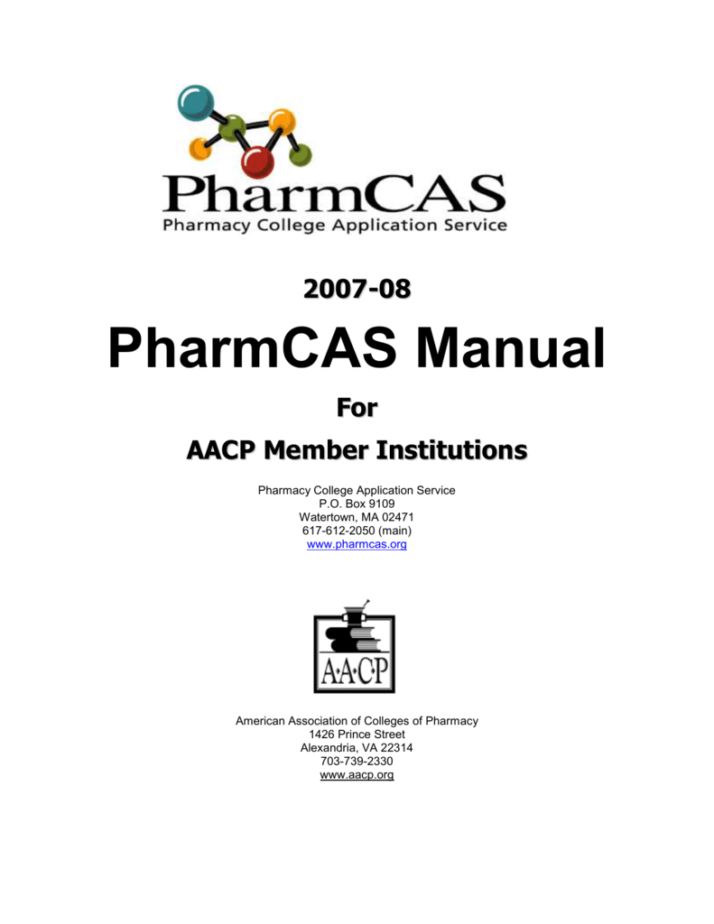 PharmCAS APPLICATION