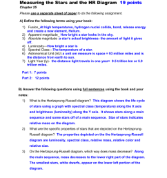 measuring the stars and the hr diagram 19 points chapter 25 please use a separate sheet of paper to do the following assignment  [ 791 x 1024 Pixel ]