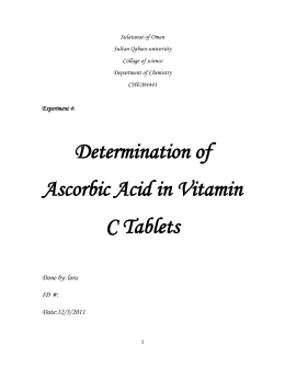 3-Determination of Ascorbic Acid in Vitamin C