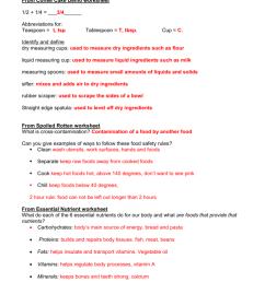 Foods Quiz Study Guide Key [ 1024 x 791 Pixel ]