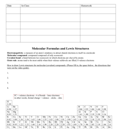 name date period in class bonding unit homework molecular formulas and lewis structures electronegativity a measure of an atom s tendency to attract shared  [ 791 x 1024 Pixel ]