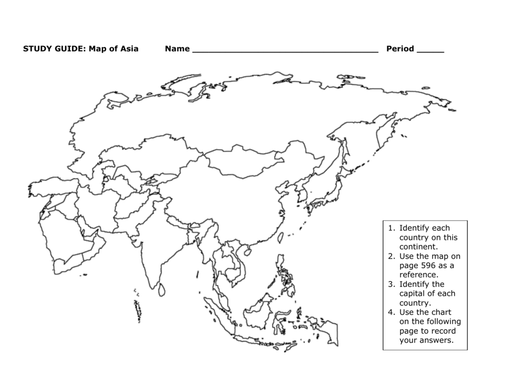 STUDY GUIDE: Map of Asia World Explorers 6 Name Period