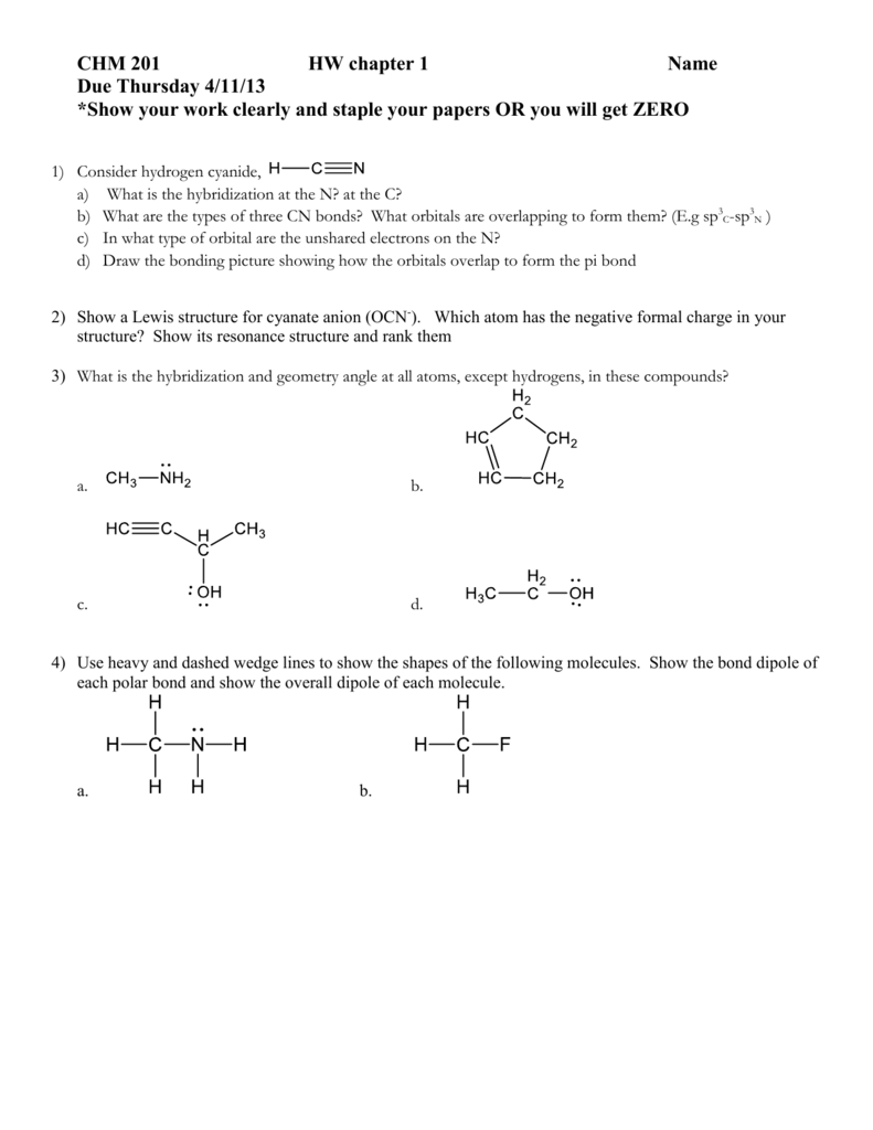Resonance Structures For Ocn : resonance, structures, Chapter