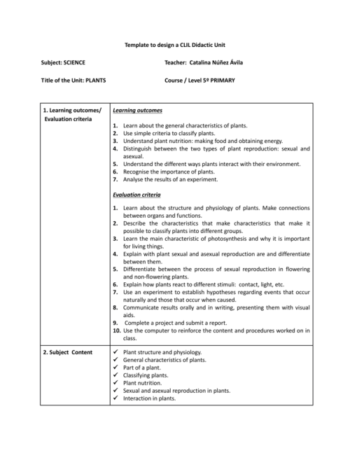 small resolution of Template CLIL UNITx