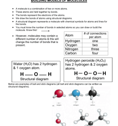 building models of molecules a molecule is a combination of two or more atoms these atoms are held together by bonds  [ 791 x 1024 Pixel ]