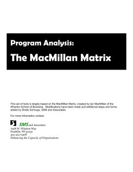MacMillan Matrix