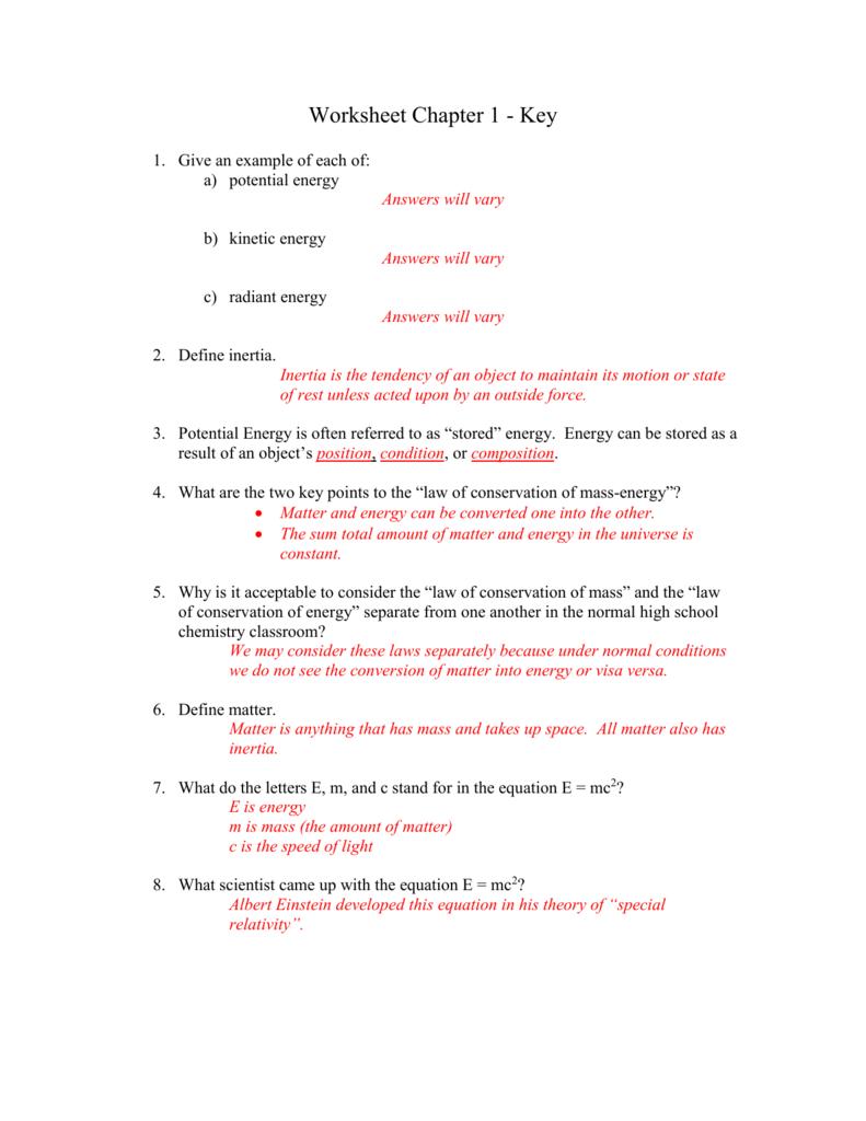 hight resolution of Conservation Of Mass Worksheet - Nidecmege