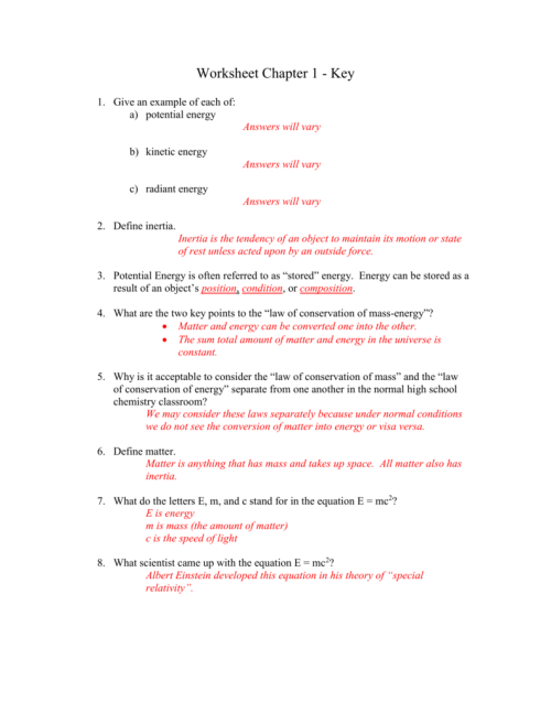 small resolution of Conservation Of Mass Worksheet - Nidecmege