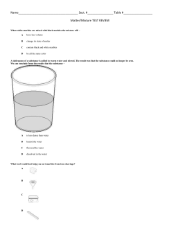 Separation of a Mixture Lab Sheet