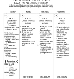 name core 1 weekly homework 2 3 4 due fri feb 5th science 8 e 2 1 the age history of the earth infer the age of earth and relative age of rocks  [ 791 x 1024 Pixel ]