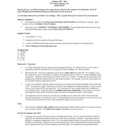 8th Grade Language Arts Syllabus 2015-16 [ 1024 x 791 Pixel ]