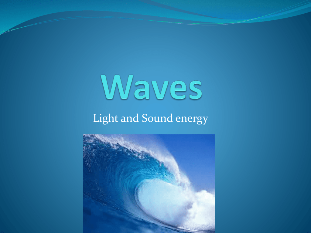 Waves And Sound Vocabulary