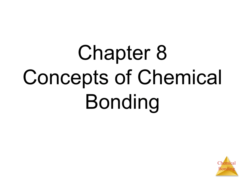 hight resolution of chapter 8 concepts of chemical bonding chemical bonding chemical bonds ionic three types electrostatic attraction between ions covalent sharing of