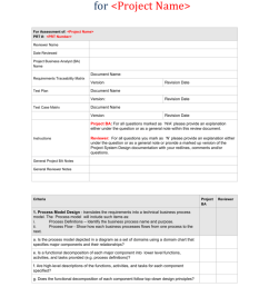 system design qc review analyst for project name for assessment of project name prt prt number reviewer name date reviewed project business  [ 791 x 1024 Pixel ]