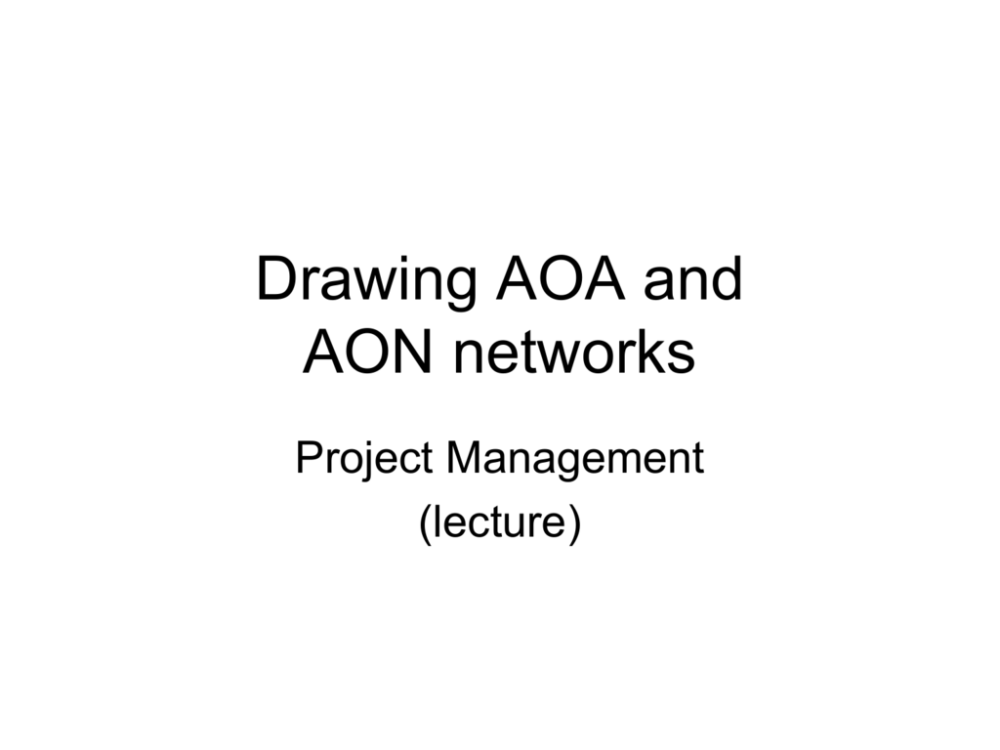 medium resolution of drawing aoa and aon networks project management lecture activity on arrow aoa diagrams elements of an aoa activity on arrow diagram activity arrow