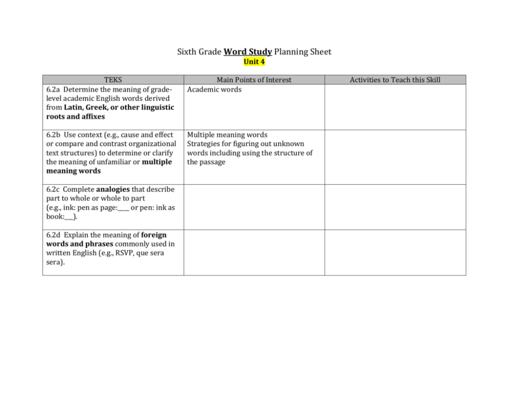 medium resolution of Unit 4 Planning Guide1