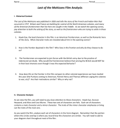 period last of the mohicans film analysis i historical context the last of the mohicans was published in 1826 and tells the story of the french and  [ 791 x 1024 Pixel ]