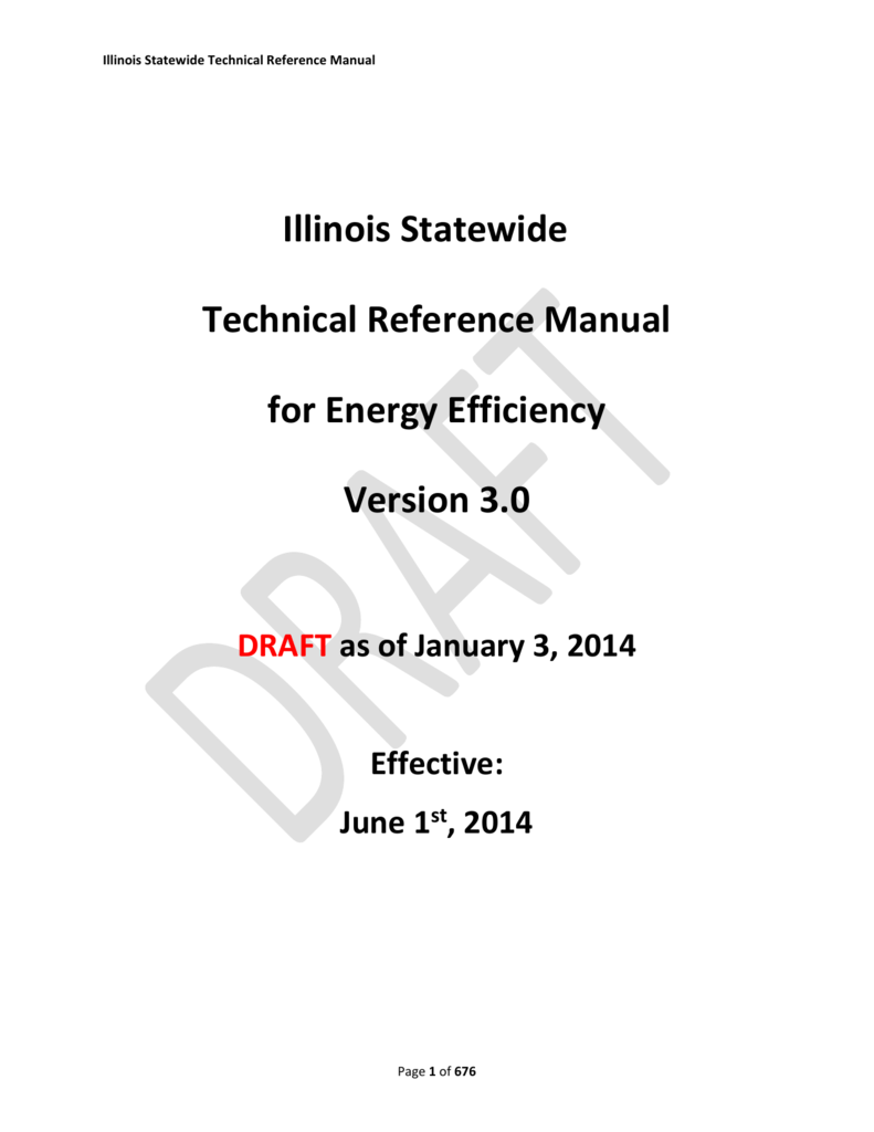 hight resolution of illinois statewide technical reference manual illinois statewide technical reference manual for energy efficiency version 3 0 draft as of january 3 2014