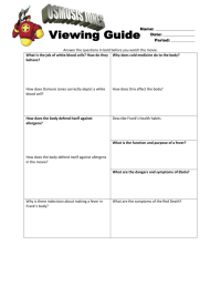 Osmosis Jones Worksheet