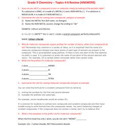 Grade 9 Chemistry – Topics 4-6 Review [ 1024 x 791 Pixel ]