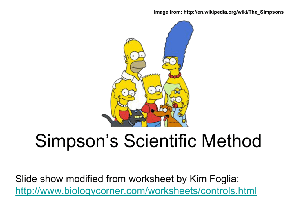 Designing A Controlled Experiment Worksheet