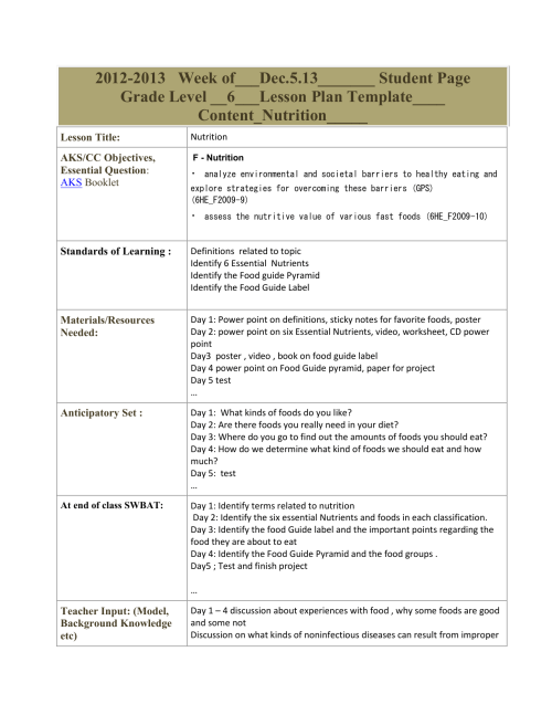 small resolution of Lesson Plan Template