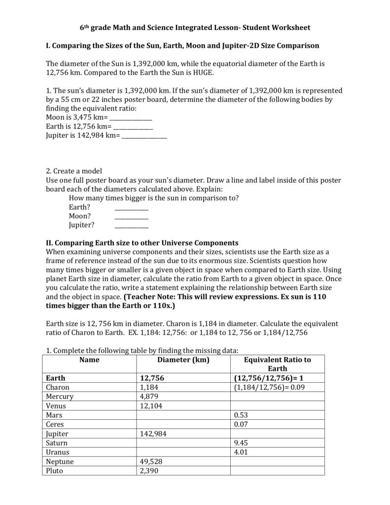 medium resolution of Student Worksheet
