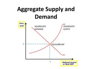 Aggregate Demand and Aggregate Supply An aggregate demand