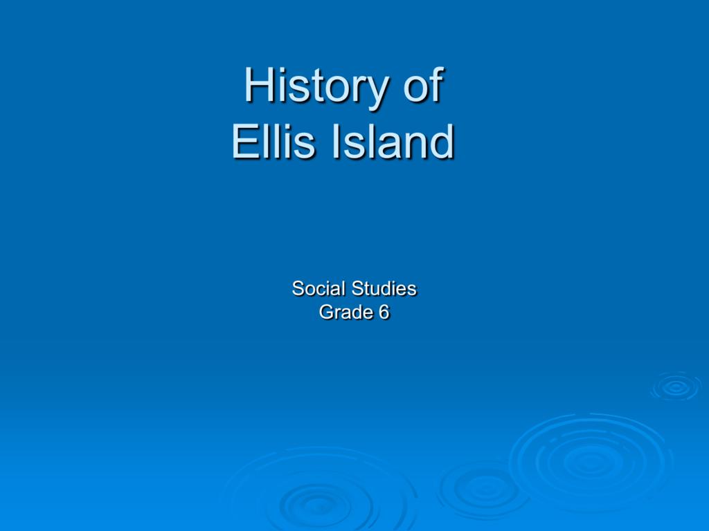 Ellis Island Slideshow For Worksheet Ellis Island