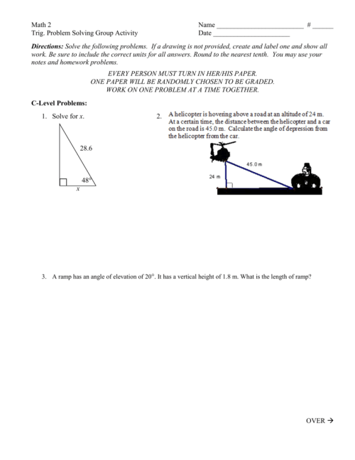 small resolution of Sine-Cosine-Tangent Word Problems