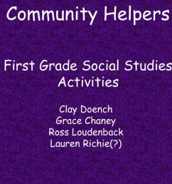 Community Helpers First Grade Social Studies Activities [ 768 x 1024 Pixel ]