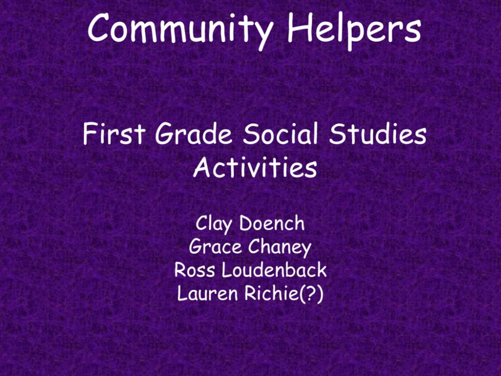 medium resolution of Community Helpers First Grade Social Studies Activities