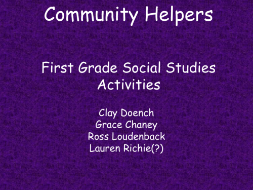 small resolution of Community Helpers First Grade Social Studies Activities