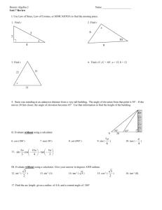 IB Math Studies Unit 5 Review Notes