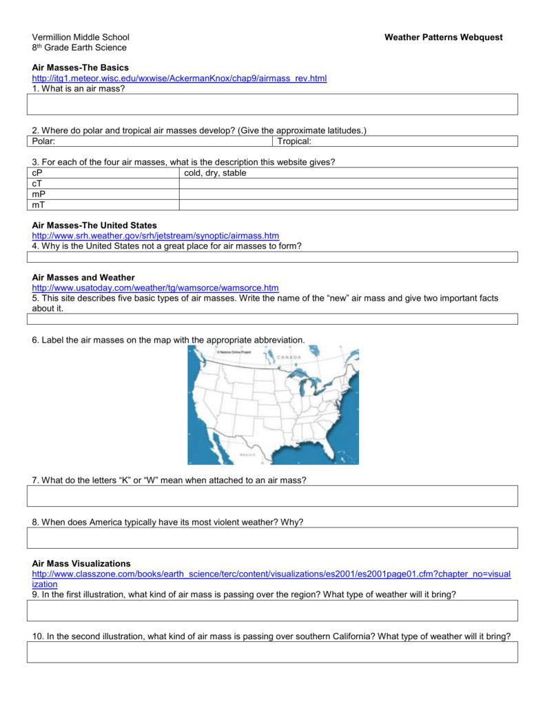 hight resolution of Weather Patterns Webquest - Vermillion School District 13-1