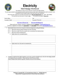 worksheet. Electricity Merit Badge Worksheet. Worksheet ...